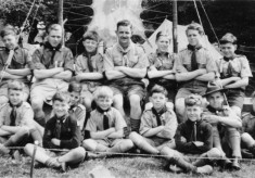 Scouts at camp c.1950