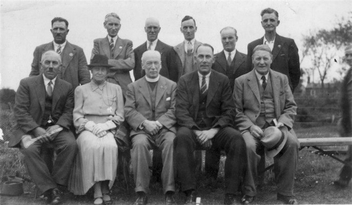 Canon Blackmore, seated, with others
