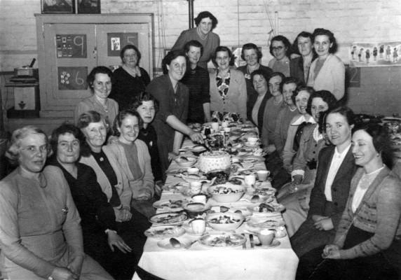 Women's Institute dinner in 1952