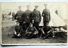 Bottesford WW1 recruits at training camp