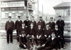 Staff at Bottesford (East) station, GNR