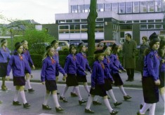 Guides Parade in Grantham