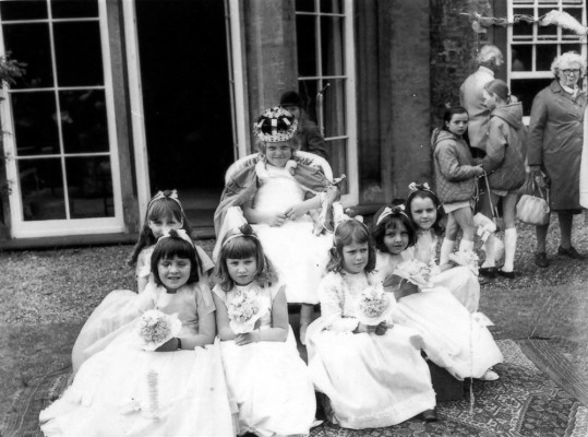May Day Pageant - May Queen by Old Rectory