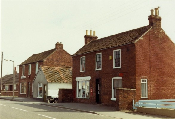 Bottesford street scenes - post office and butcher's shop