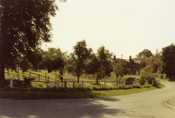 Bottesford street scenes - former orchard in paddock by Devon Lane