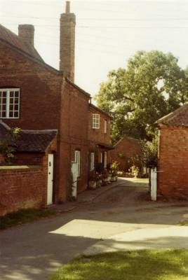 Bottesford street scenes - The Green, old farmhouse