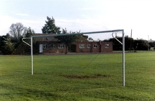 Bottesford old VC Hall from football pitch