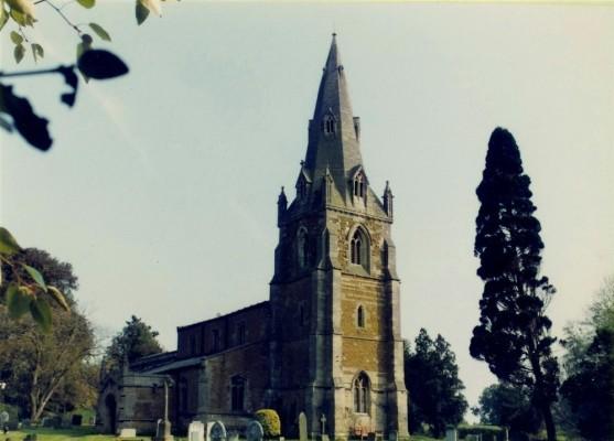 Muston parish church in 1981