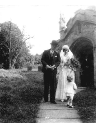 Wedding at Muston church in 1934.