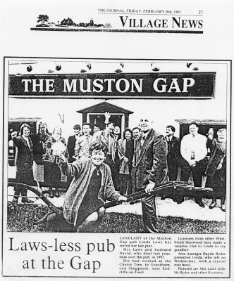 Muston Gap newspaper article