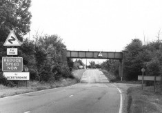 Mineral line bridge over A52 at Muston