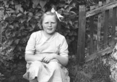Toppy Webb, in a garden