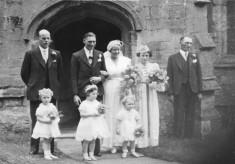 Mr & Mrs George Flowers wedding group