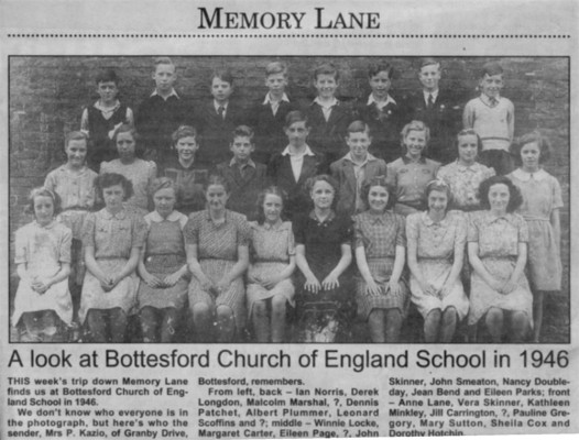 Bottesford school group picture 1946