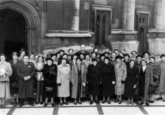 Bottesford Mother's Union outing to Houses of Parliament, 1950s.