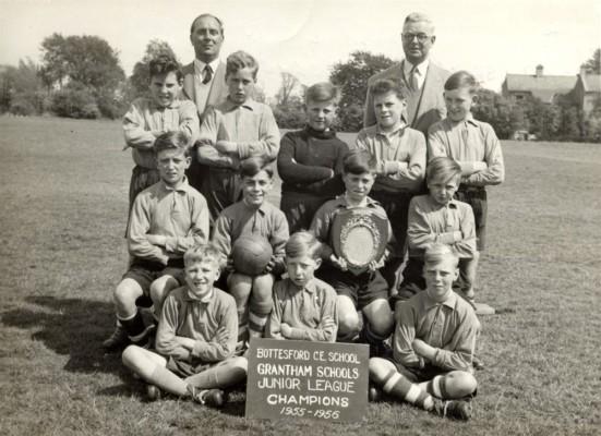 Bottesford village school juniors football team, 1956