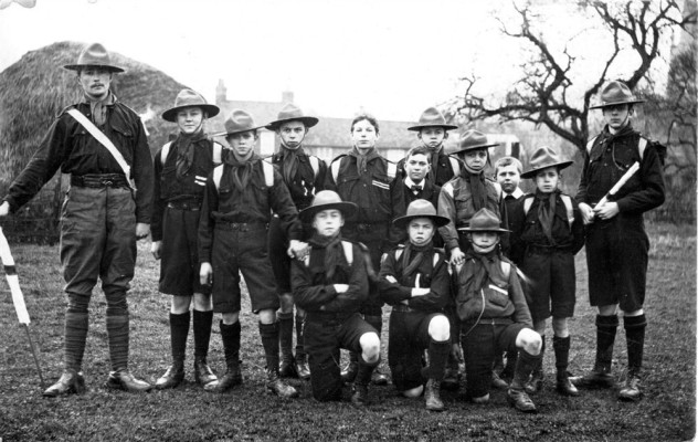 Bottesford Boy Scouts, possibly in Canal Farm field, Grantham Road, Bottesford