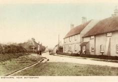 Corner House cottages, Muston, old postcard