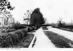 Belvoir Road looking north in the 1950s, old postcard