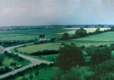 Panorama from Bottesford church tower looking north, enhanced by Richard Bradshaw