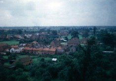 Redford's Cottages (Wright's Yard) and The Square from Bottesford church tower