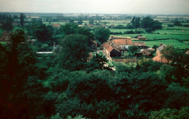 The Green from Bottesford church tower