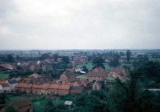 Redford's Cottages and The Square from Bottesford church tower