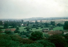 View towards Belvoir Castle from Bottesford church tower