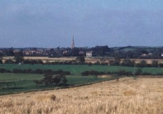View from Toston Hill looking north towards Bottesford spire