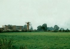 Bottesford's new school under construction in 1958