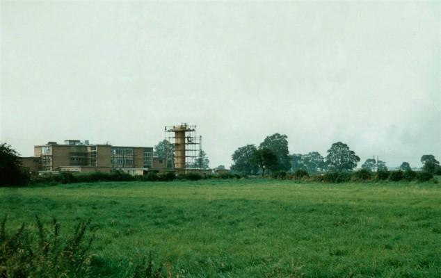 Bottesford's new school under construction in 1958