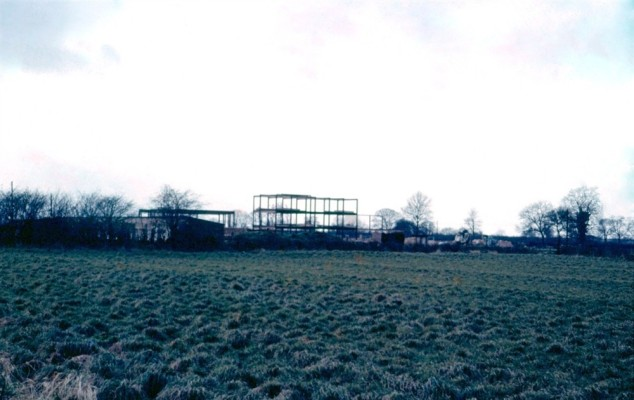 Bottesford's new school under construction in 1958, a different view