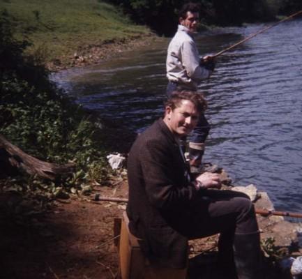 Mr Pritchett and friend angling