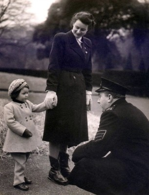 Sergeant Bradshaw meeting a young Lady Charlotte
