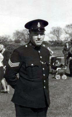 Sergeant Arthur Bradshaw, Bottesford's police man, at the sports day