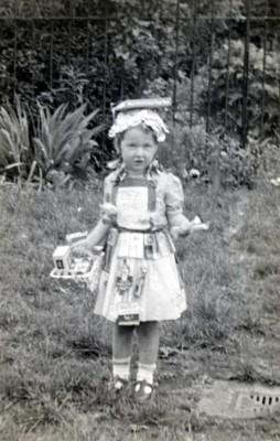 Girl in fancy party dress