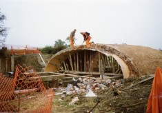 Rebuilding Muston Canal Bridge in 1988_2