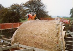 Rebuilding Muston Canal Bridge in 1988_4