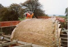 Rebuilding Muston Canal Bridge in 1988_4
