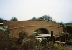 Rebuilding Muston Canal Bridge in 1988_5