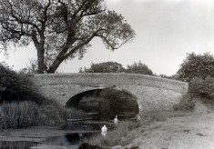 Muston Canal Bridge, an old photo