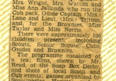 Jay Howitt's Scouts scrapbook cuttings - 2