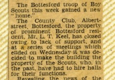Jay Howitt's Scouts scrapbook cuttings - 8