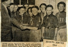 Jay Howitt's Scouts scrapbook cuttings - 9
