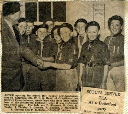 Jay Howitt's Scouts scrapbook cuttings - 9