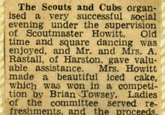Jay Howitt's Scouts scrapbook cuttings - 11