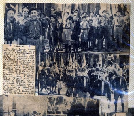 Jay Howitt's Scouts scrapbook cuttings - 13