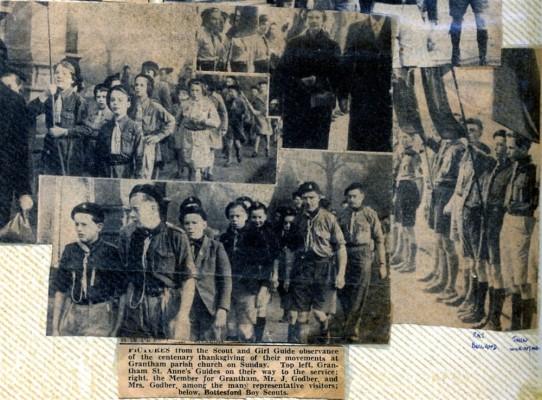 Jay Howitt's Scouts scrapbook cuttings - 14