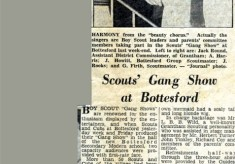 Jay Howitt's Scouts scrapbook cuttings - 23