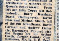 Jay Howitt's Scouts scrapbook cuttings - 31